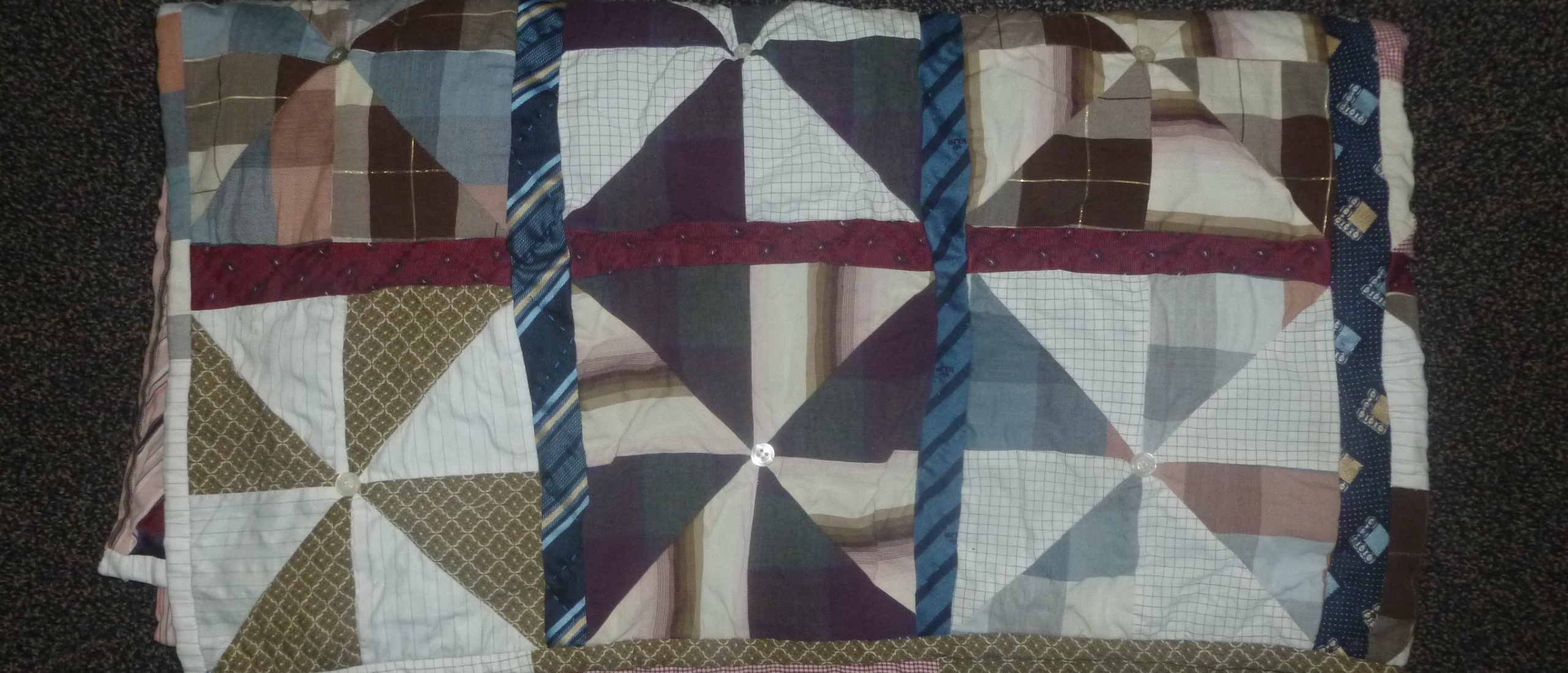 Shirt and tie quilt Rianne