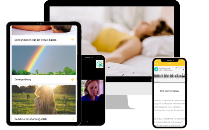 Ontspannen Moeder Online meditatie visualisatie adem audio's