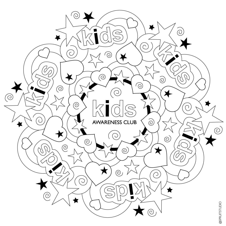 Gratis Mandala kleurplaat Kids Awareness Club