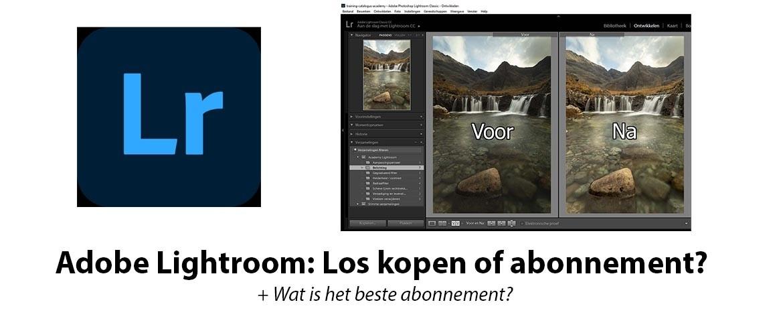 Adobe Lightroom los kopen of abonnement?