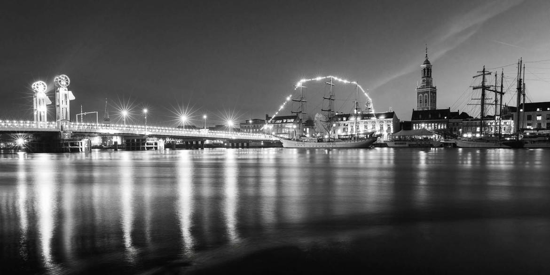 kampen avondfotografie stadsbrug