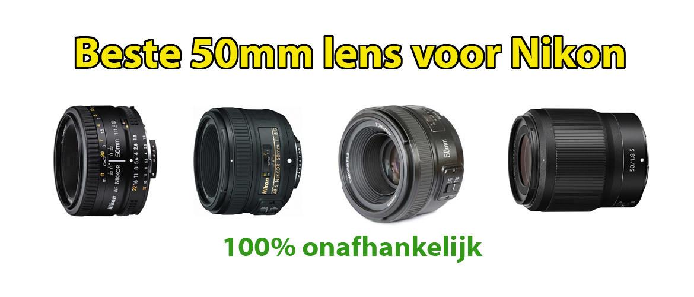 Beste 50mm lens voor Nikon