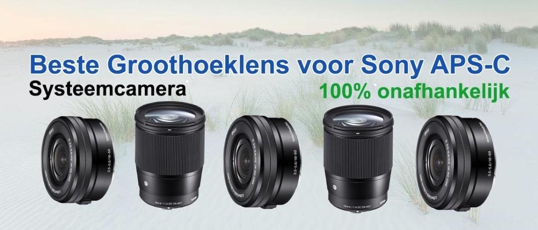 Beste groothoeklens voor Sony APS-C systeemcamera (landschapsfotografie)