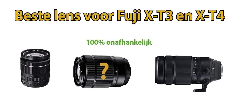 Beste lens Fuji X-T3 en X-T4 systeemcamera