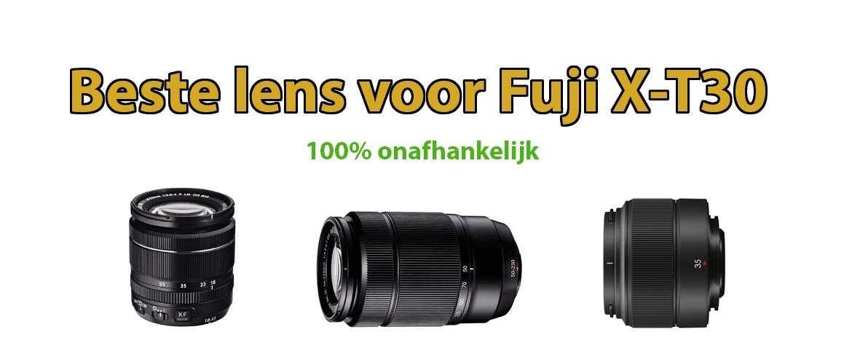 Beste lens voor Fujifilm X-T30 systeemcamera