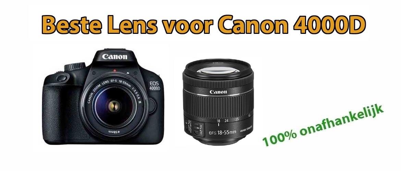 Beste lens voor Canon EOS 4000D