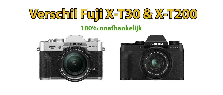 Verschil tussen Fujifilm X-T30 en Fujifilm X-T200