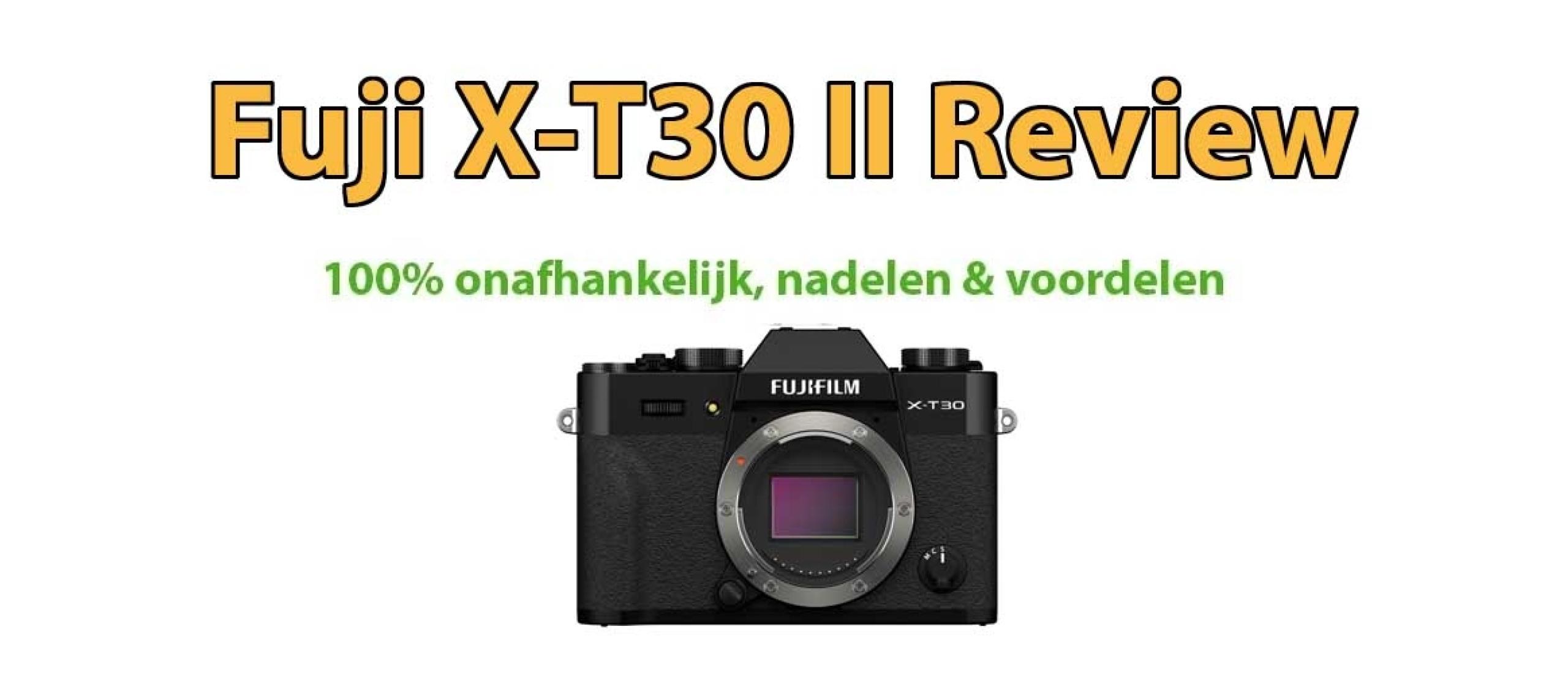 Fujifilm X-T30 II systeemcamera Review
