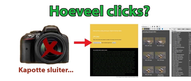 Hoeveel clicks heeft mijn camera?