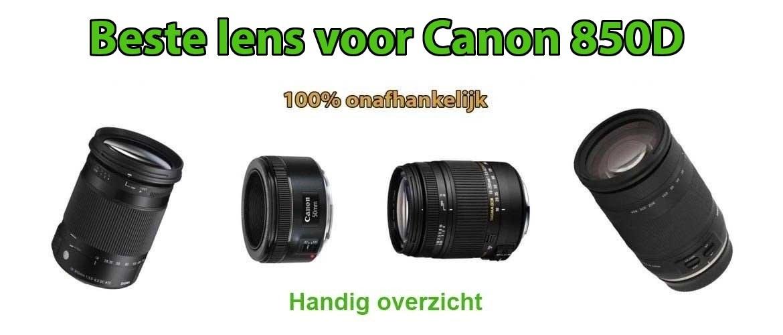 Beste lens voor Canon EOS 850D