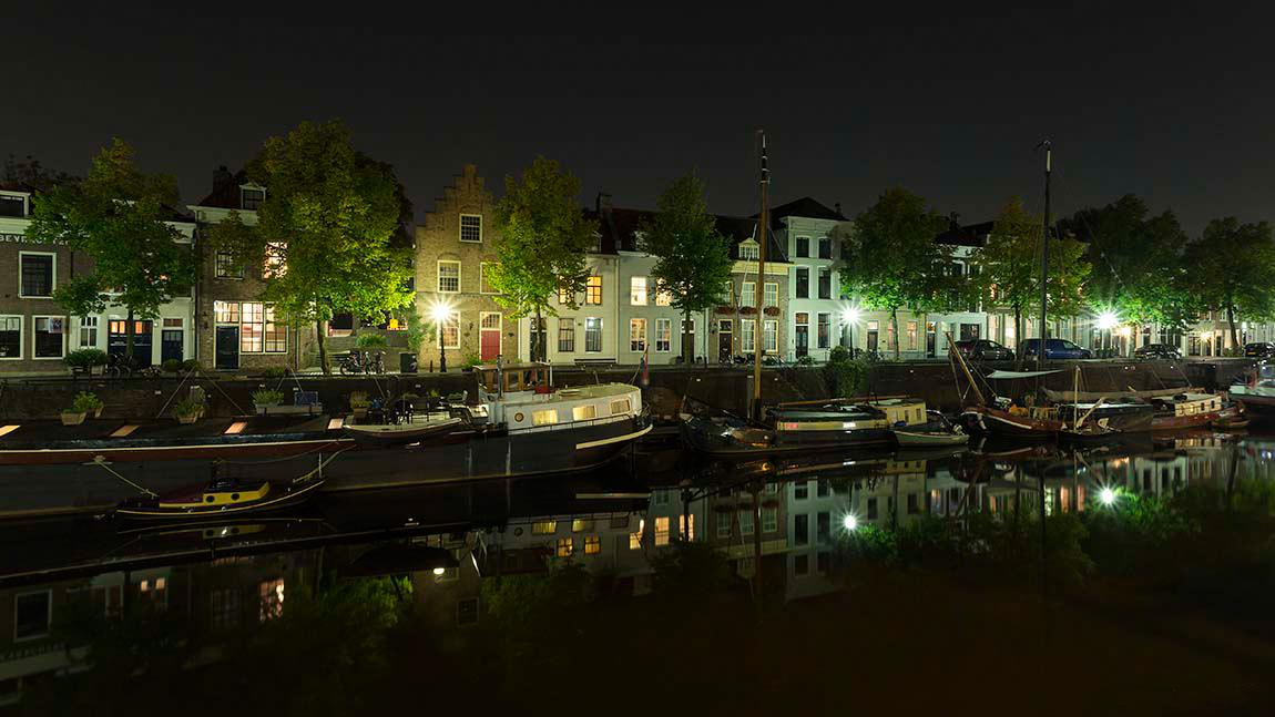 stadsfoto Den Bosch avondverlichting