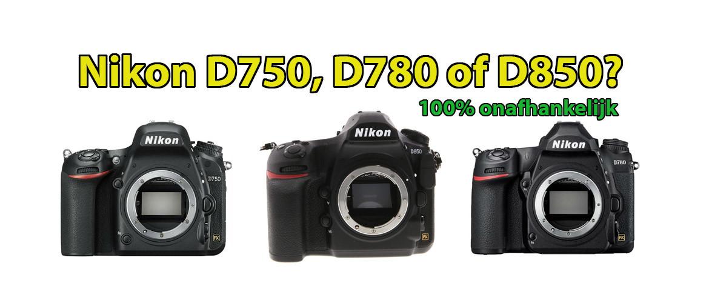 Nikon D750 of D780 of D850 spiegelreflexcamera