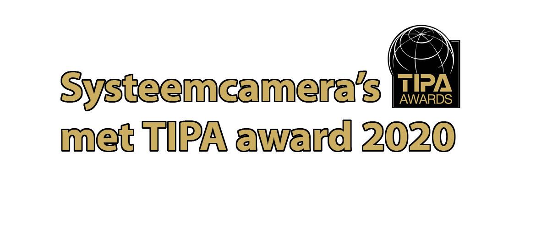 Systeemcamera's met TIPA Award 2020