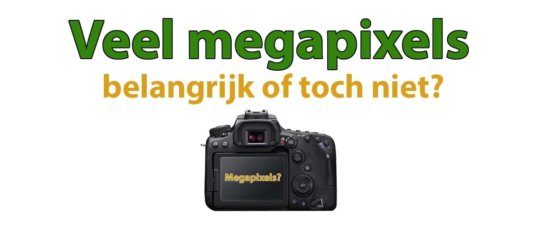 Veel megapixels: belangrijk of toch niet?