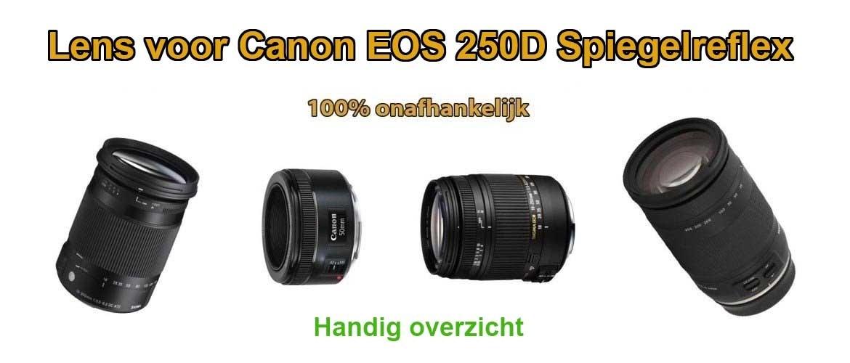 Welke lens voor Canon EOS 250D?