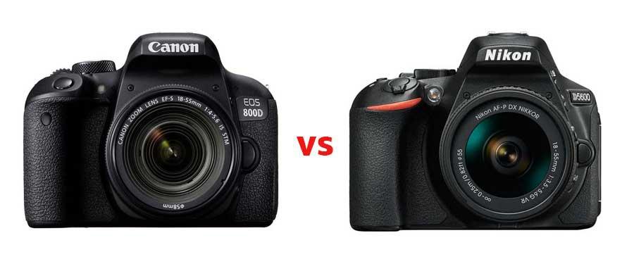 Nikon D5600 of Canon 800D