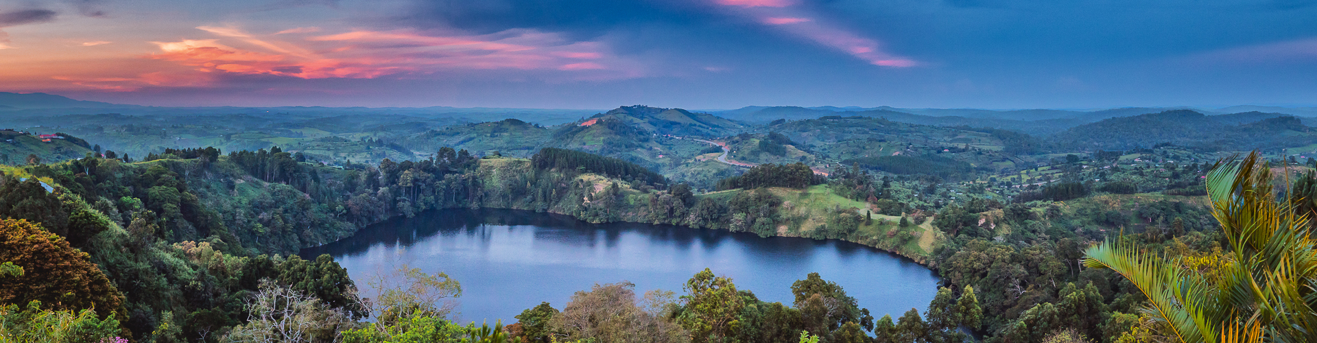 Panorama Photo Lake and Country Side in Uganda