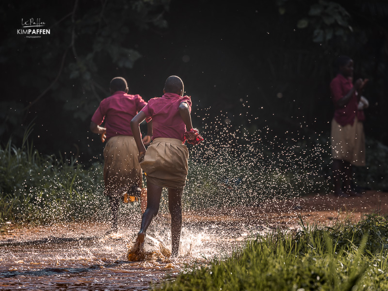 Uganda children in School uniform