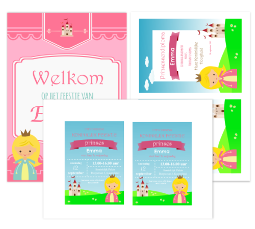 draaiboek prinsessen speurtocht uitnodigingen