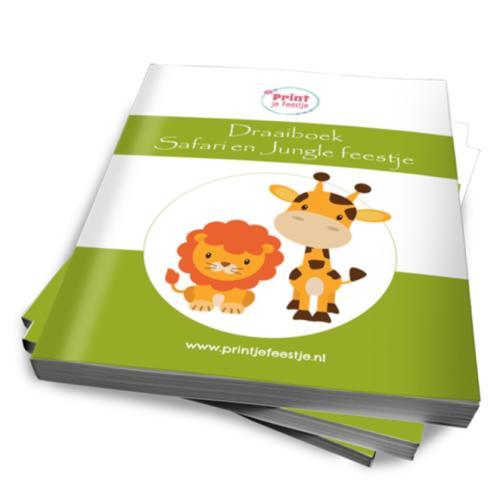 draaiboek safari kinderfeestje thuis - print je feestje