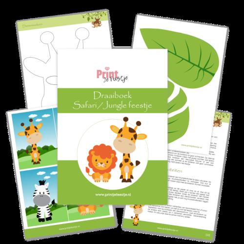 draaiboek kinderfeestje safari - print je feestje
