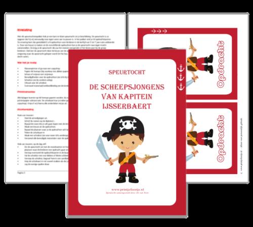 draaiboek speurtocht piraten - print je feestje