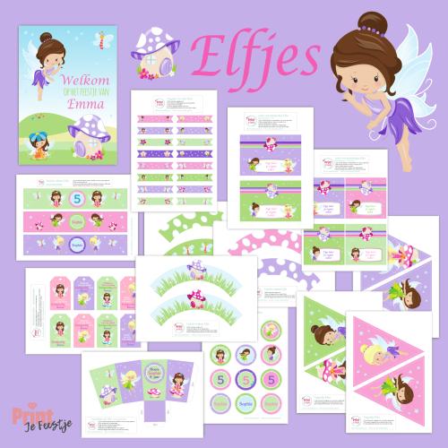 feestpakket printables elfenfeestje - print je feestje