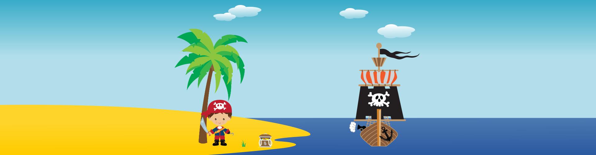 piraten speurtocht - print je feestje