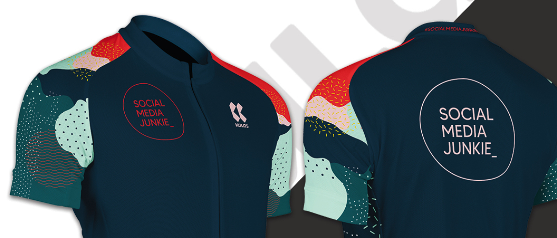 Dit is het design voor mijn eigen fietskleding van Kalas Sportswear