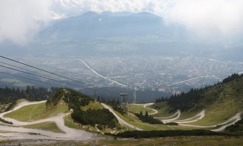 Uitzicht Nordkette op Innsbruck