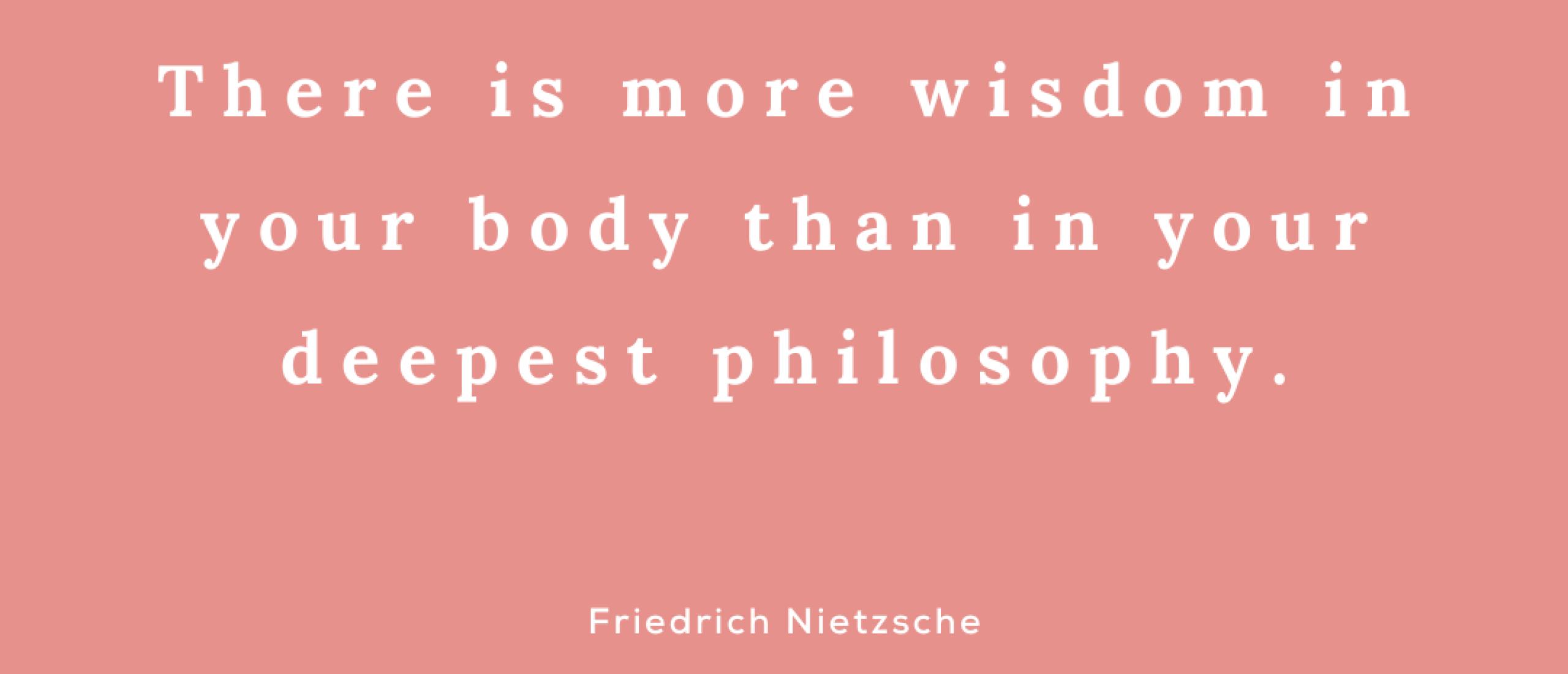 De wijsheid van je lichaam