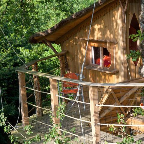 Slapen in een boomhut in Frankrijk