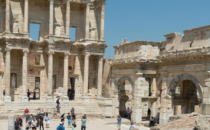 Efeze in Turkije met kinderen