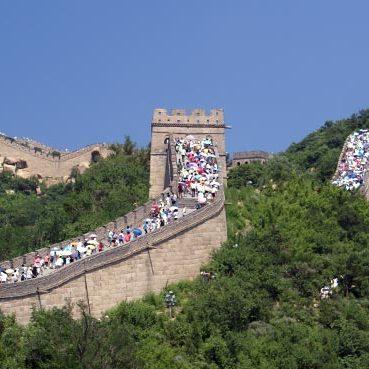 Chinese Muur met kinderen