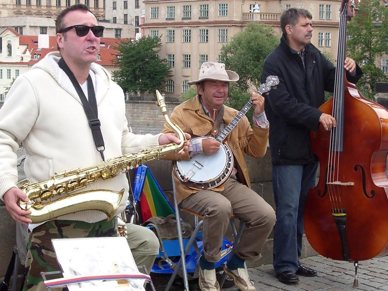 Muzikanten op de Karelsbrug