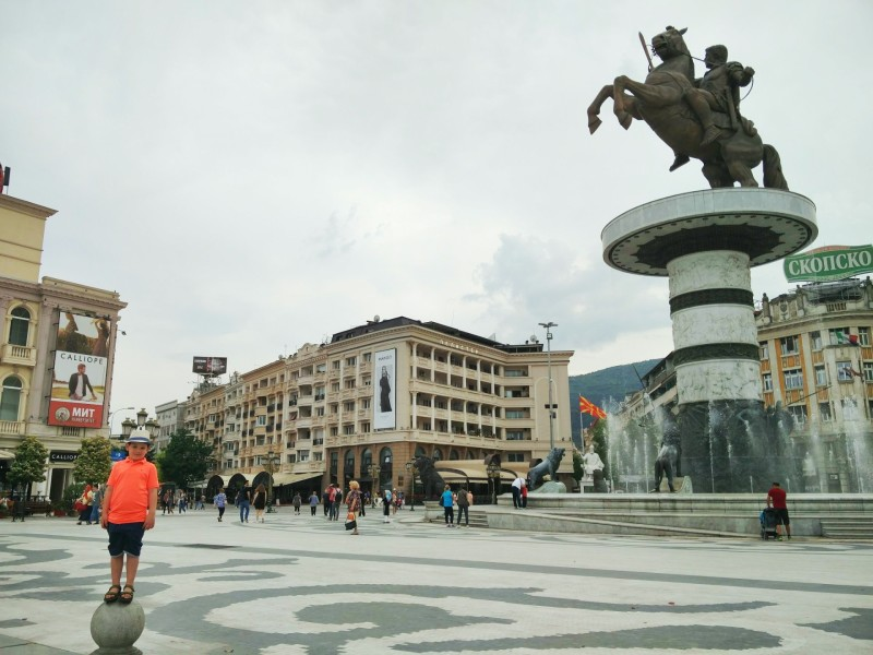 Warrior on a horse in Skopje