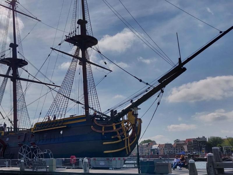 Scheepvaartmuseum Amsterdam met kleuter