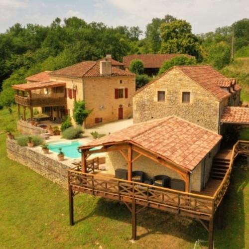 Vakantiehuis met eigen zwembad in Frankrijk