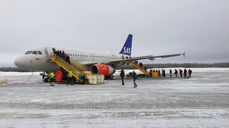 Vliegen naar Zweeds Lapland met gezin