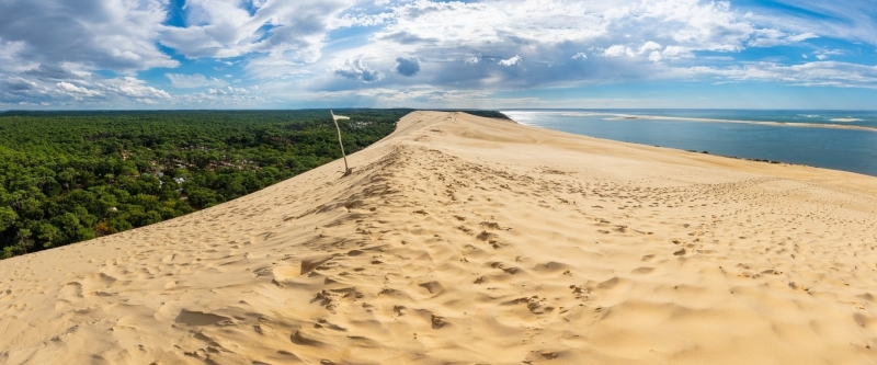 Zandbank in bekken van Arcachon