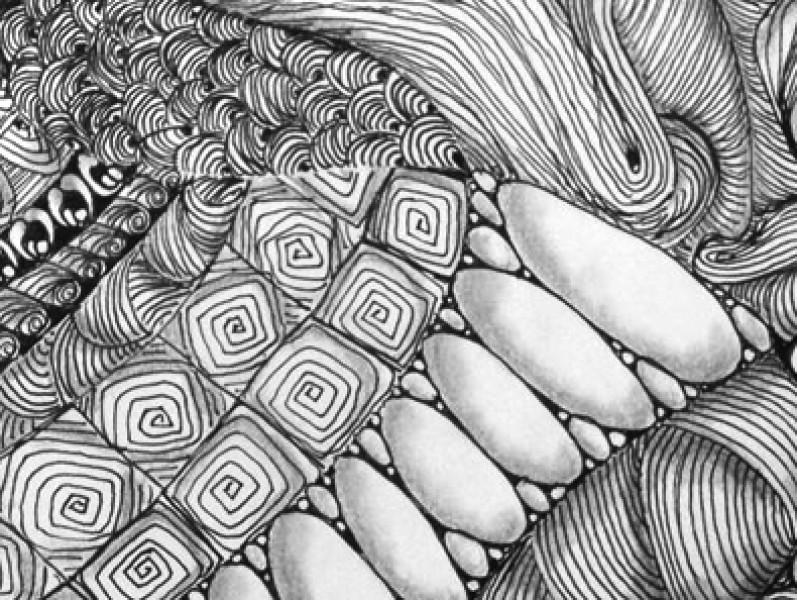 Zentangle patroon