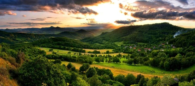 Beskiden bergketen Lysá Hora Tsjechië