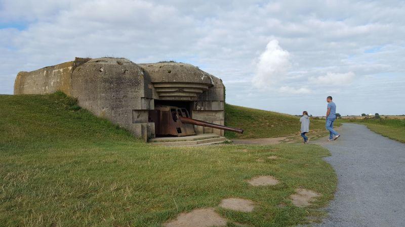 Bunkers bij landing beaches Normandië