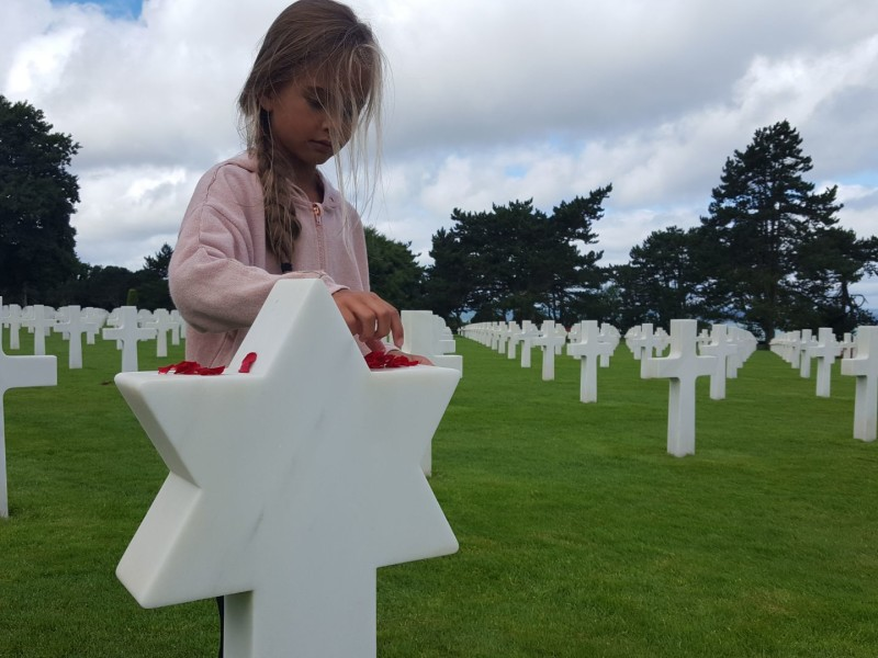 D-Day landing beaches in Normandië met kinderen