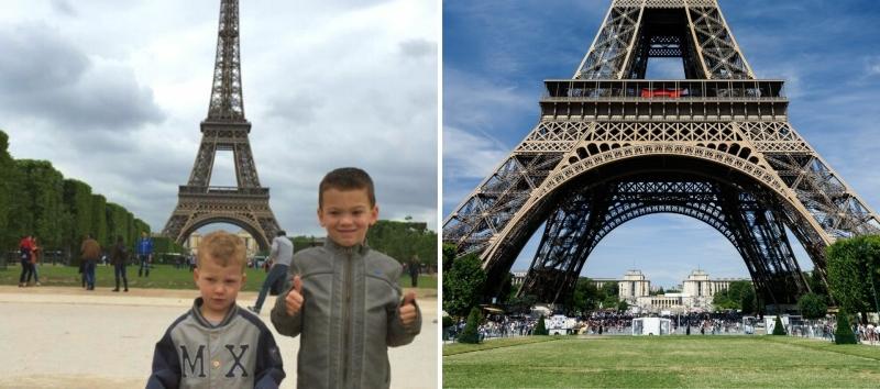 Eiffeltoren beklimmen met kleuter