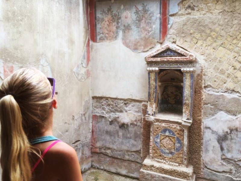 Herculaneum met kinderen
