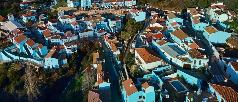 Juzcar blauw dorp Andalusië