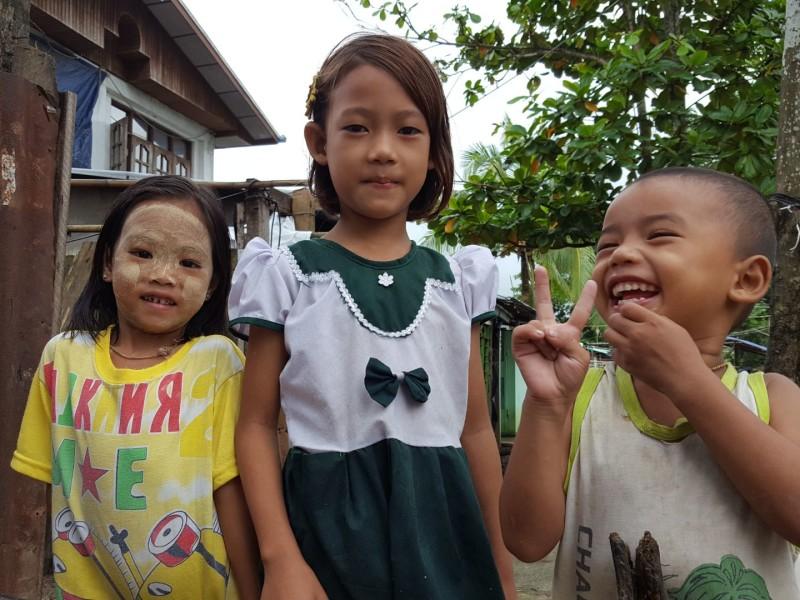Kinderen in Yangon