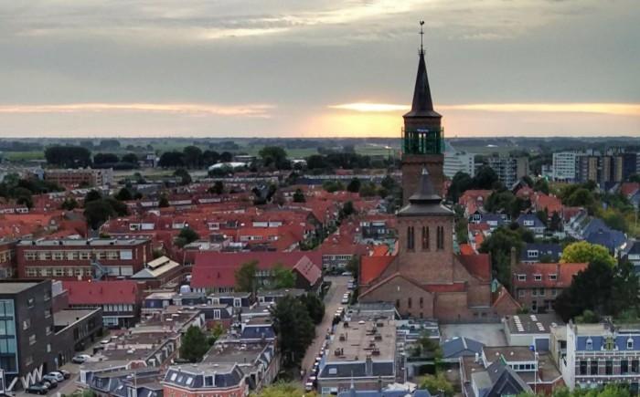 Leeuwarden uitzicht vanaf de Oldenhove