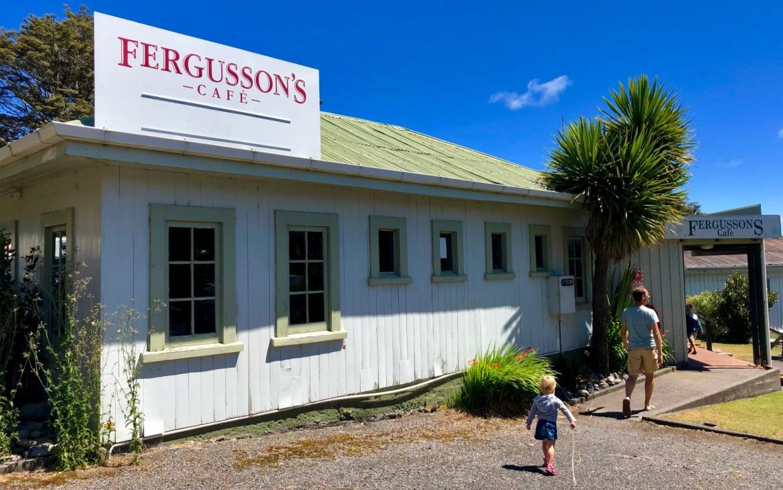 Lunchen in Tongariro NP met kinderen
